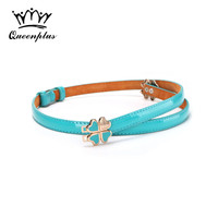 New Arrival Fashion Genuine Leather Belt For Women Candy Colors Smooth Painting Summer Style Joker Women