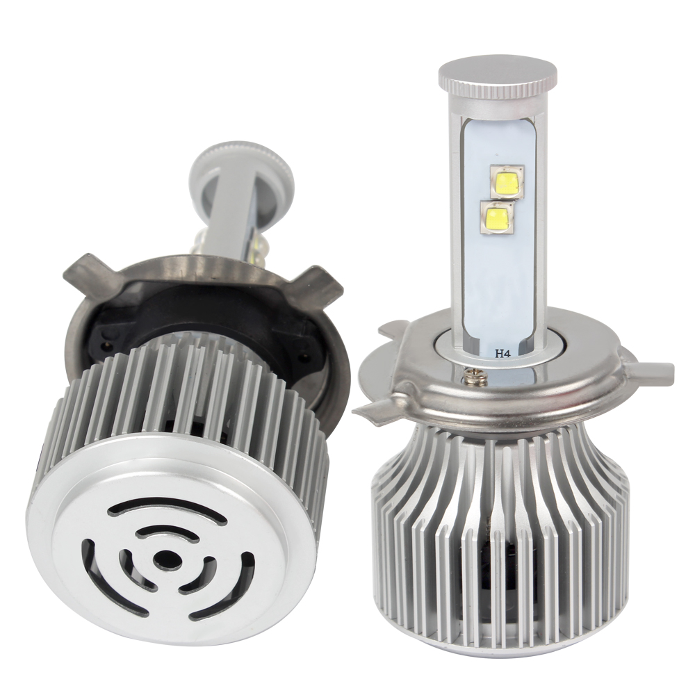 Hi/Lo Headlight H4 60W/Each Bulb High Low Beam 6000K All-in-one Version of X7 LED Super Bright Car Styling 60w 6000lm h4 led light headlight vehicle car hi lo beam bulb kit 6000k white fe9