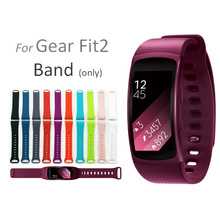 1:1 Original Design Silicone Sport Band for Samsung Gear Fit 2 SM-R360 Fitness Band Wearable Rubber Bracelet Wrist Strap R360