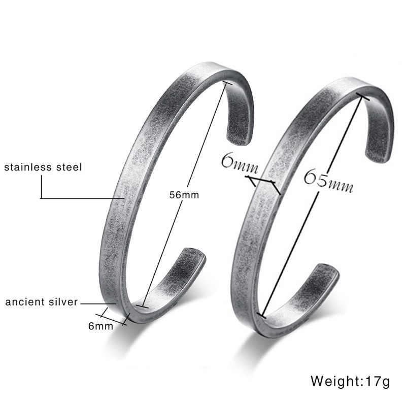 Vnox Retro Vintage Viking Cuff Bracelet & Bangle for Women Men Pulseras Hombre Stainless Steel Classic Unisex Jewelry Multi Size