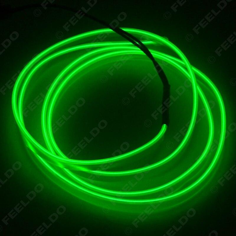 Feeldo 2/m confortables Moulage Flexible EL Neon Glow Lighting Bande Corde avec fin pour d/écoration de voiture