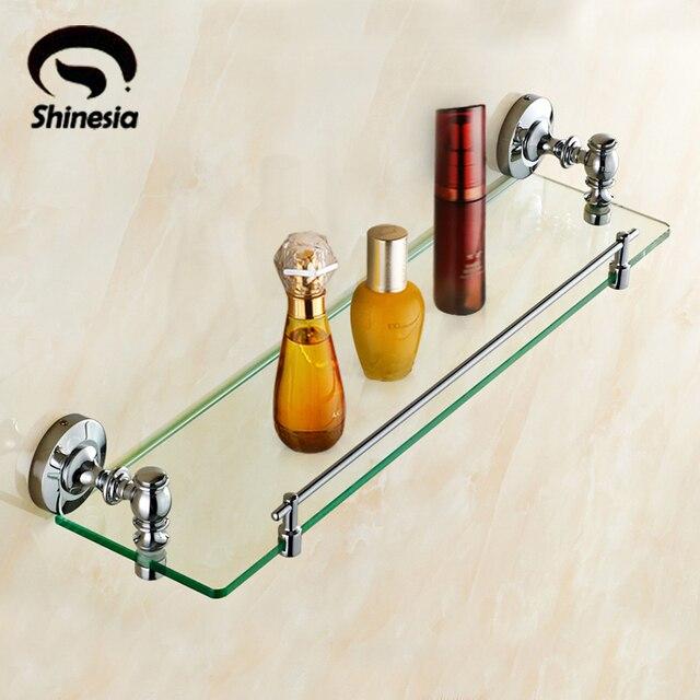 Massivem Messing Badezimmer Schminktisch Kosmetische Halter Bad Regal Glas  Halter Chrom Poliert
