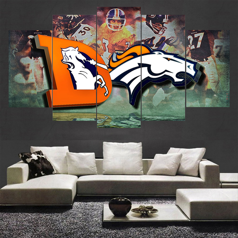 Landscape Painting Denver Broncos Wall Picture Modern Home Decoration Living Room Or Bedroom Canvas Print Paintings