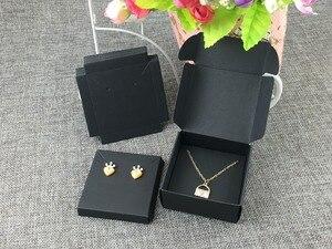 Image 2 - 50 takım Kraft Mücevher Kutusu ve Mücevher Kartları Küpe/Kolye KUTUSU Boş Takı Görüntüler takı ambalajı Seti/El Yapımı hediye Kutuları