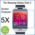 5 ШТ. Х Бесплатная доставка для Samsung Galaxy Gear 2 экран протектор матовый с антибликовым покрытием защитная пленка с розничным пакетом