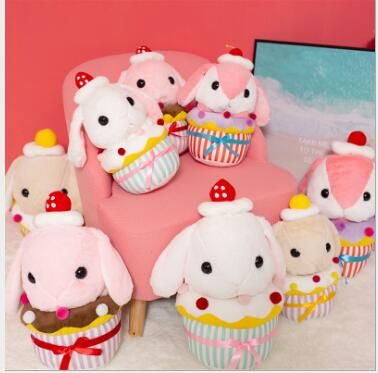 WYZHYCake rabbit doll pillow pink soft soothing toy creative gift to friends 40cm 45cm 60cm