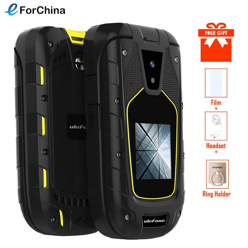 "Ulefone Armor Flip IP68/IP69K กันน้ำโทรศัพท์มือถือ 1200mAh Dual Screen 2.4 ""+ 1.44"" Dual SIM 1.3MP วิทยุ FM ทนทานโทรศัพท์มือถือ-ใน โทรศัพท์มือถือ จาก โทรศัพท์มือถือและการสื่อสารระยะไกล บน AliExpress - 11.11_สิบเอ็ด สิบเอ็ดวันคนโสด 1"