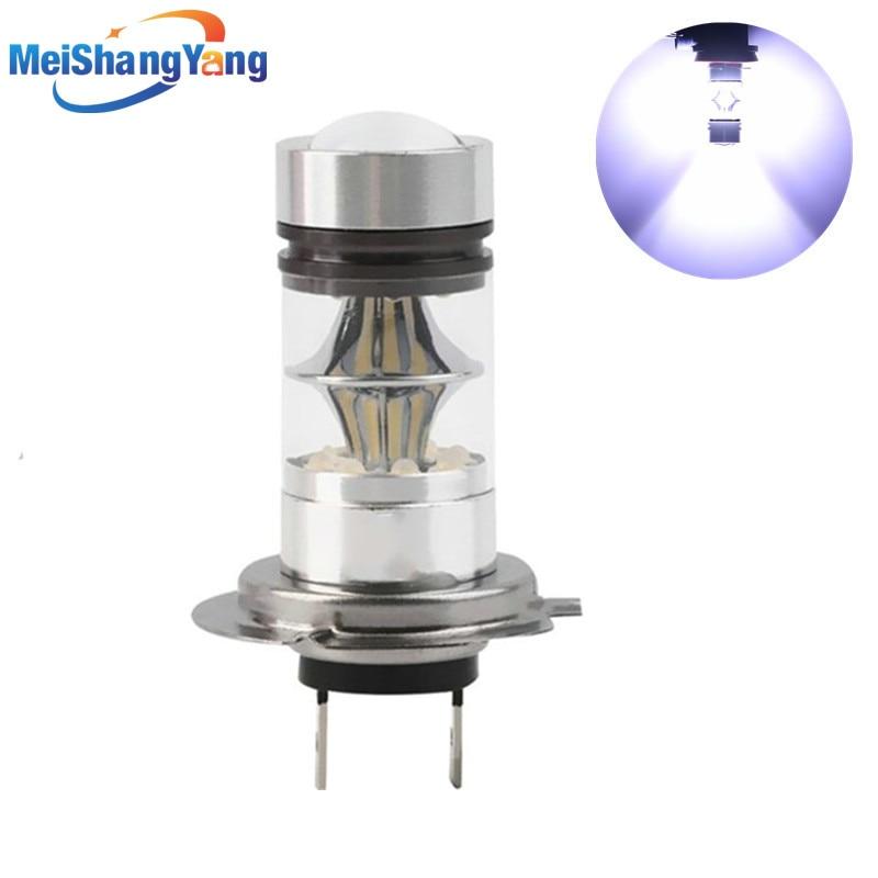 H7 LED Bulb Cree Chip 100W DC 12V~24V 360 Degree 20 SMD Car Fog Light White Light Sourcing Parking H11 9006/HB4 100W