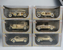 Sig 1:32 resistant alloy plating gold edition collection of Vintage Model 6pcs/set