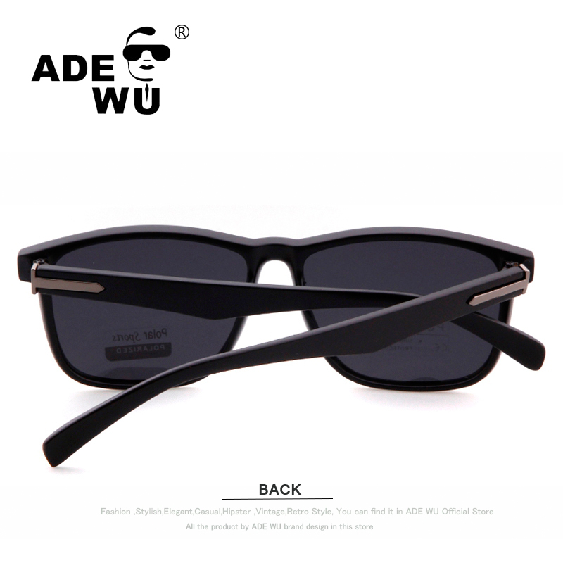 7507dae9f6f ADE WU Polarized Sunglasses Men Polar Polaroid Lens Sport Sun Glasses Brand  Designer Women Men Polarized Sunglasses gafas hombre-in Sunglasses from  Apparel ...
