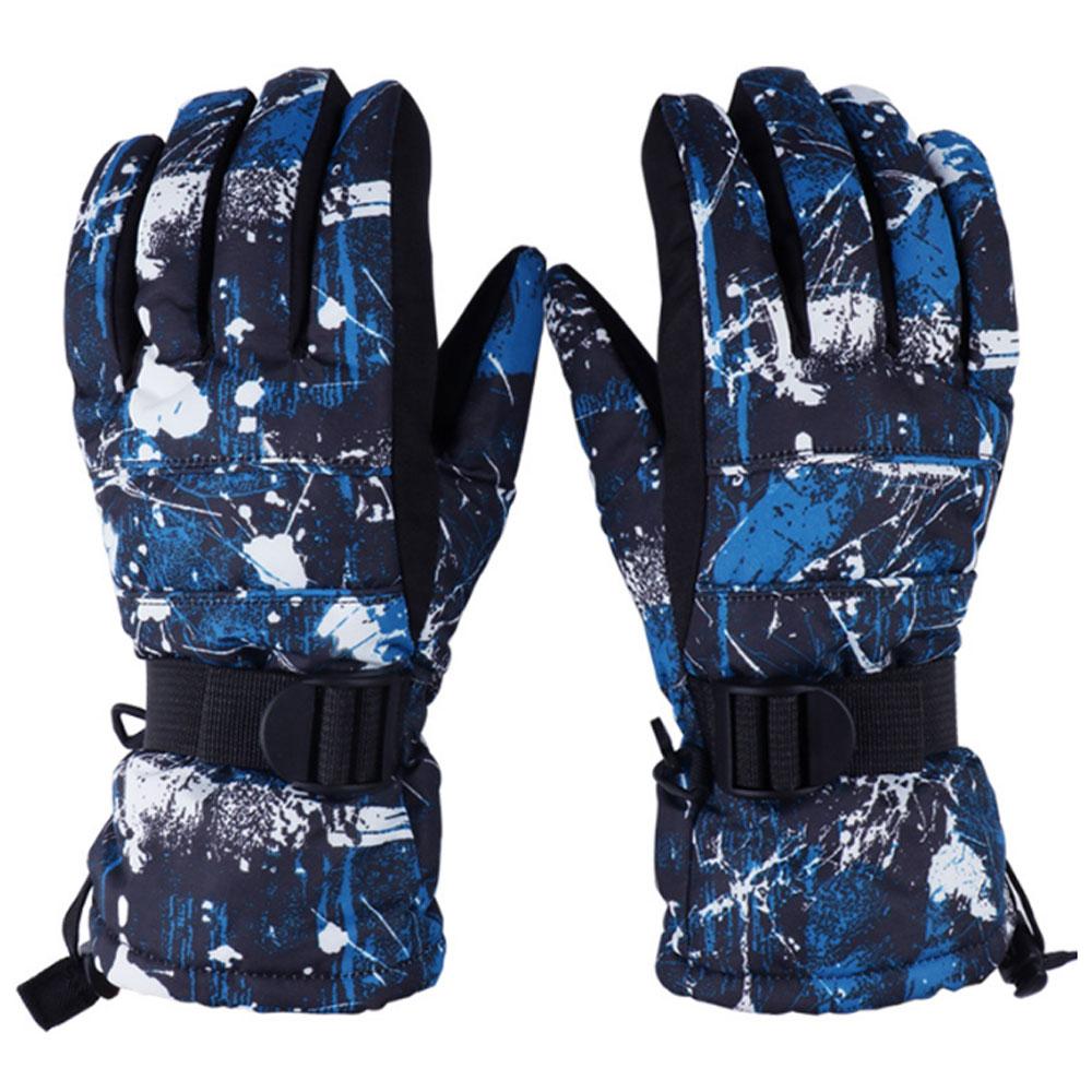 Mens ski gloves xl - 2017 New Waterproof Ski Gloves S M L Xl Size Mittens Chidlren Kids Women Men Skiing Gloves Camouflage