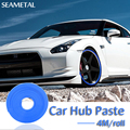 4M/roll Car Wheels Stickers Sticker Hub Strip Rim Guard Bumper Rub Scratchproof Tire Decoration Protector Car-Styling Auto Cover