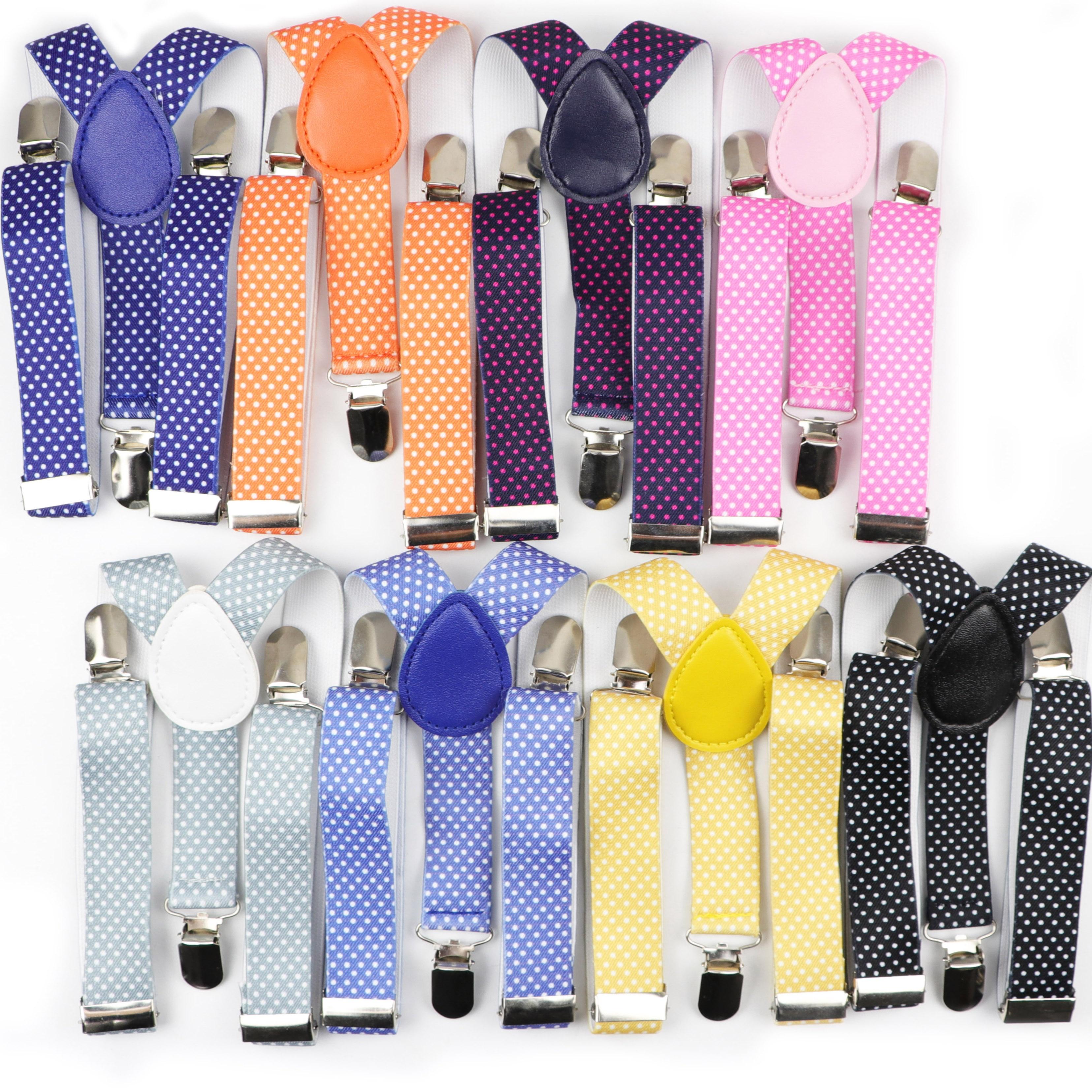 Kid Belt Children Suspenders Dot Kids Polyester Y-Back Braces Adjustable Elastic