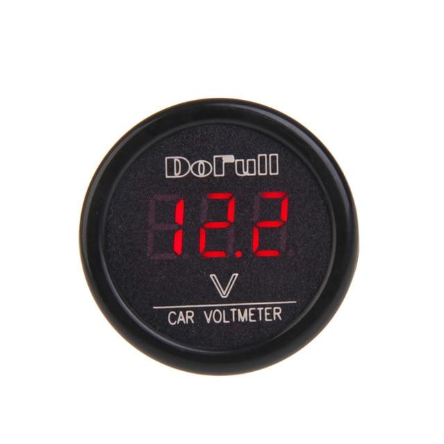 12v 24v universal car digital voltmeter electronic cigarette lighter car-charger voltage monitor led rgb display car charger