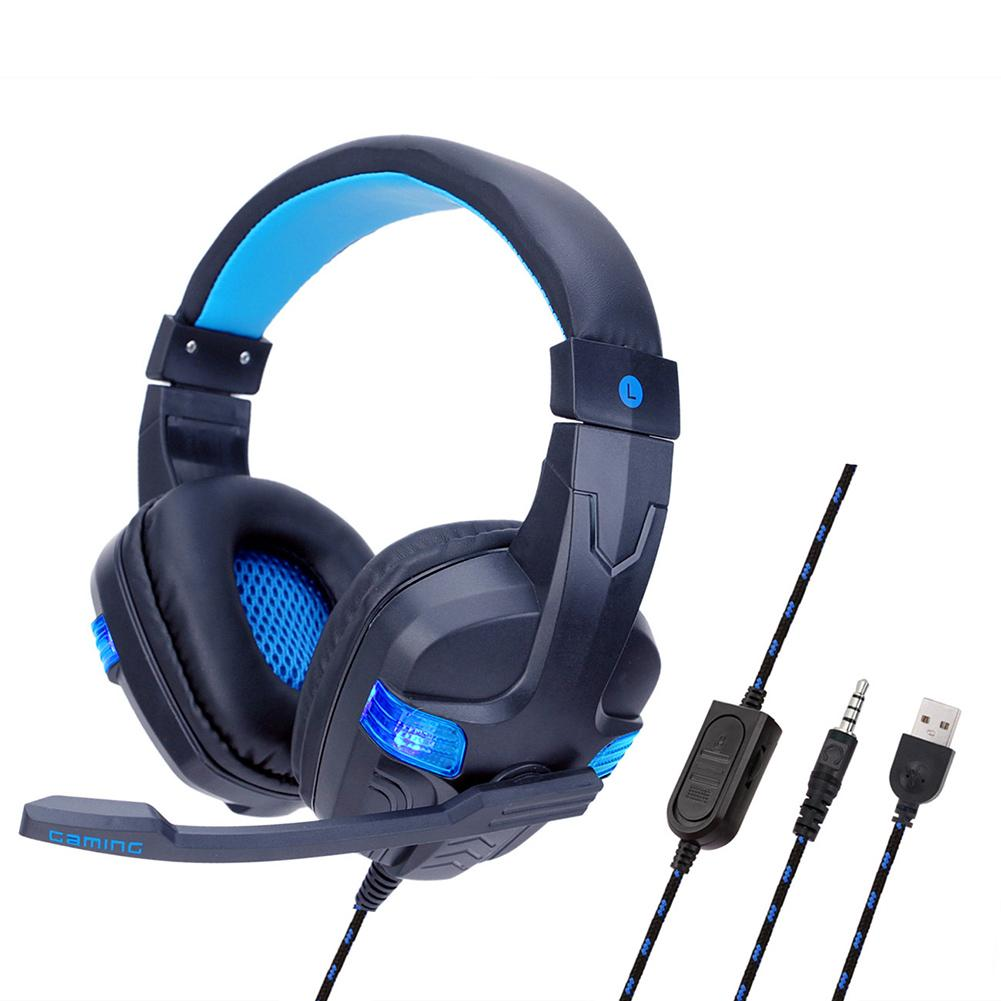 HOT SY860MV Over-ear Lighting Stereo Mic Gaming Headset for PC Laptop Game Console