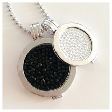 Vinnie Design Jewelry My Coin Pendant Necklace with 2 pcs crystal coins,2pcs coin holders and 1pcs 80cm ball chain