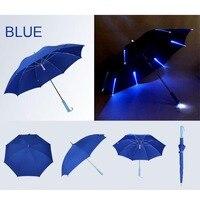7 Colors LED Luminous Umbrella Rain Kids Adult Flashlight Light Umbrella Changing Color Hot Sale