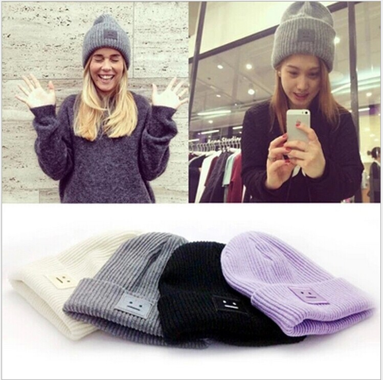 Women Hat Winter Fall Beanies Knitted Hats For Woman Rabbit Fur Cap Autumn And Winter Ladies Female Fashion Skullies цена 2017
