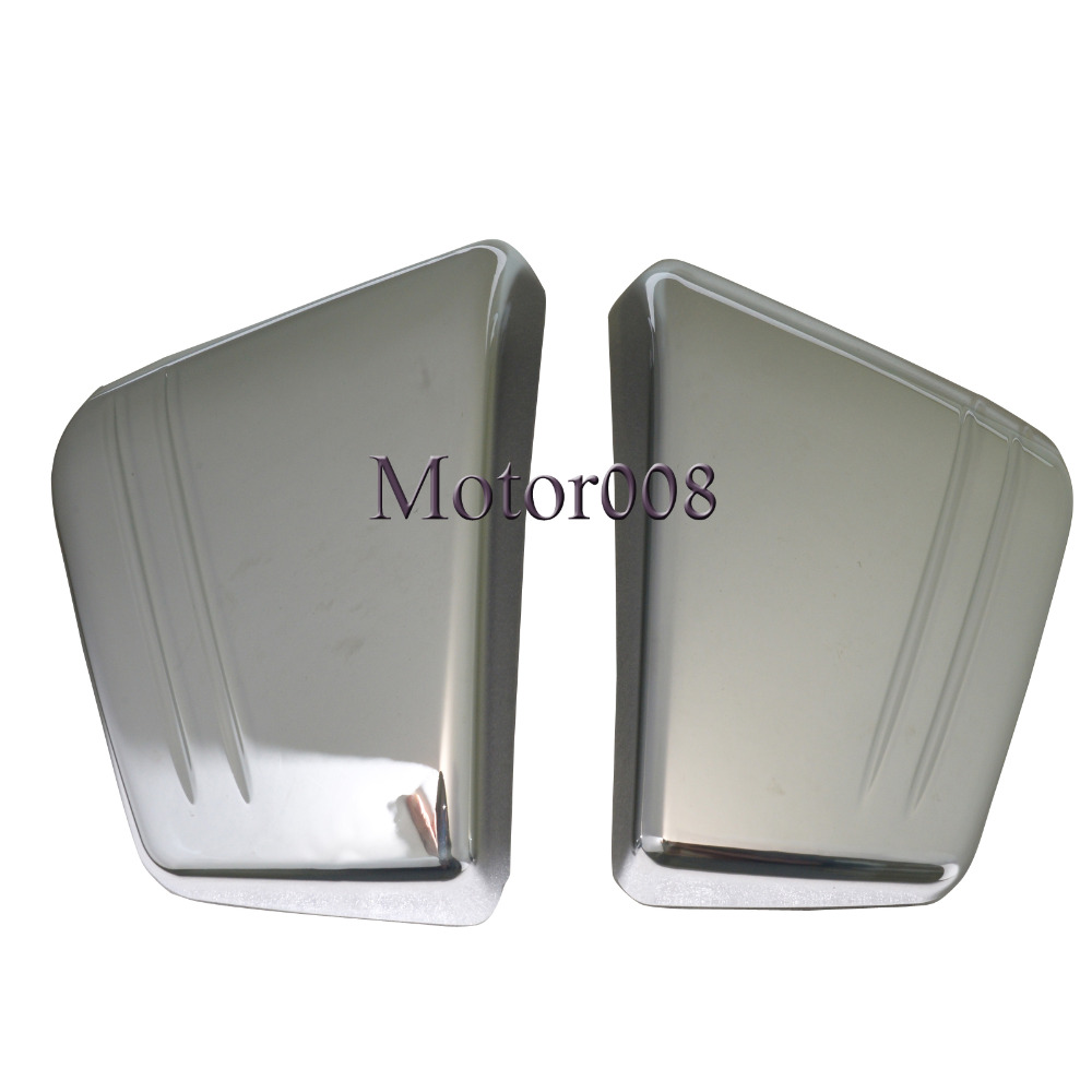 Motorcycle Chrome Battery Side Fairing Cover Side Cover For Honda VTX 1800 C VTX1800C 2002 2003 2004 2006 2007 2008 Custom ironwalls chrome air cleaner filter covers rainproof dustproof battery side fairing cover for honda magna vf750 vf750c 1994 2004