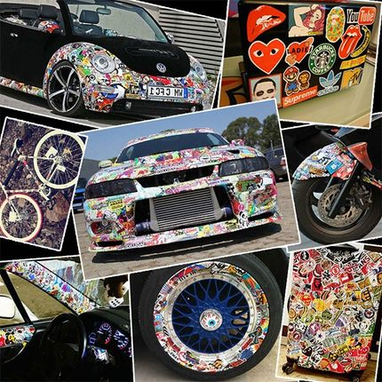 Vintage Motor Bike Vinyl Sticker Pack Collectibles Crafts