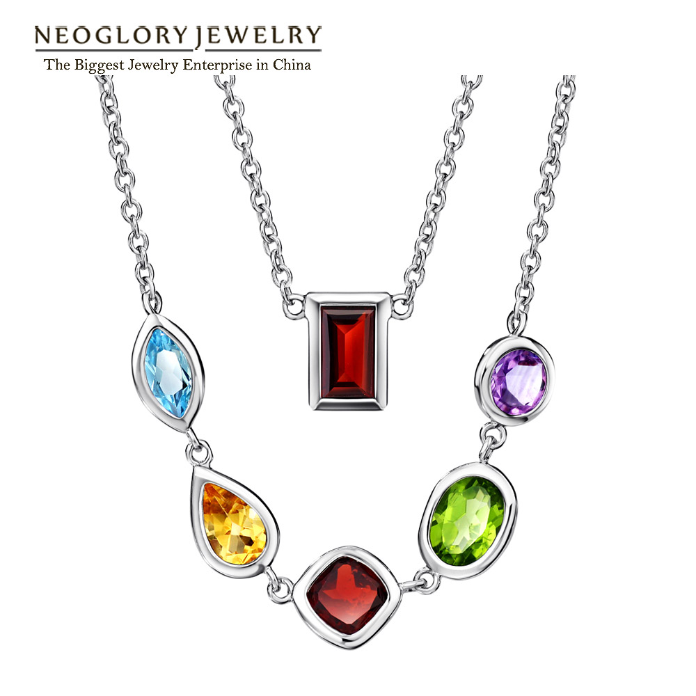 Neoglory  Acrylic Plated Long Necklaces Colorful Pendants For Women 2018 New GiftsNeoglory  Acrylic Plated Long Necklaces Colorful Pendants For Women 2018 New Gifts