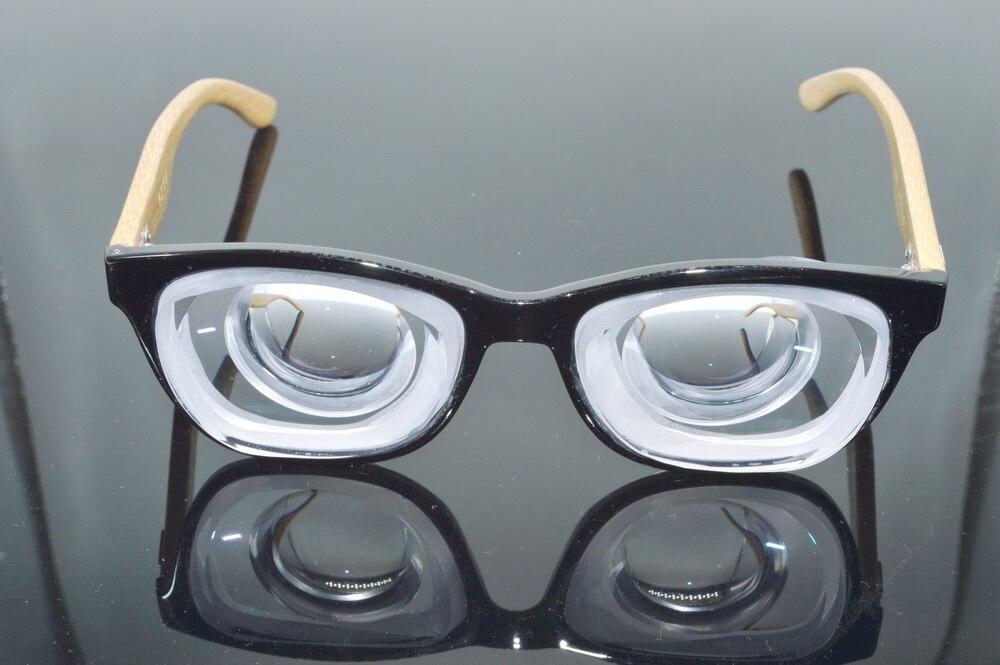 Optical Glasses Frame Clara Vida Limit!! Natural Bamboo Legs Environmental Friendly High Myopia Myopic Myodisc Goc Glasses -20d