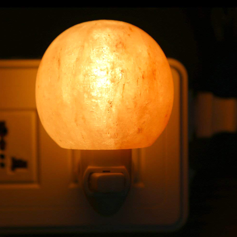 Newest Round Himalayan Salt Light Mini Decorative Wall Light Salt Lampshade for Bedrooms Home