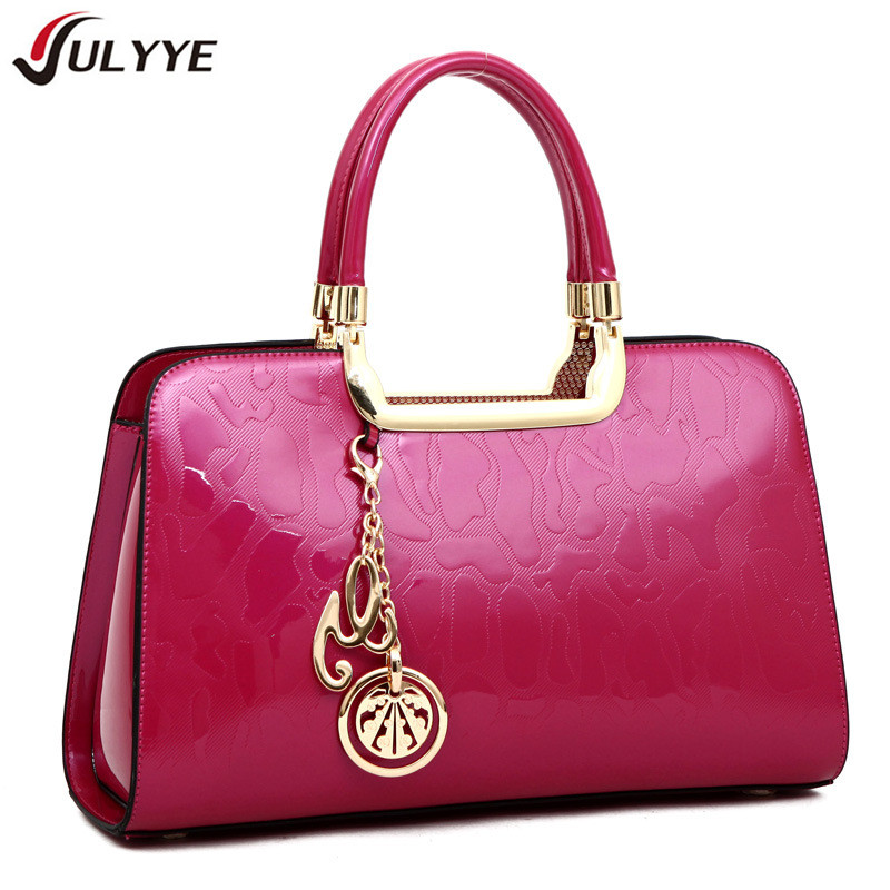 YULYYE Fashion Casual Women Bags Brand Vintage Patent Leather Women Handbag High Quality Europe and America Style Shoulder Bag new 2017 fashion brand genuine leather women handbag europe and america oil wax leather shoulder bag casual women