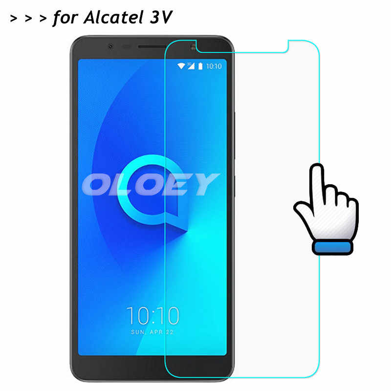 For Alcatel 3V Tempered Glass 9H Front Screen Protector Safety Protective Film On Alcatel3V 3 V 5099 5099D 6.0 inch Glass Film