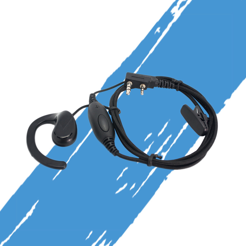 KSUN Walkie-Talkie Headset B15 Headset Thick Line Thick Braided Wire PPS Material Ear-Hook Headphones