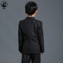 Nimble Black Stripe Suit for Boy Formal Boys Suits For Weddings Polyester Terno infantil costume garcon mariage single breasted