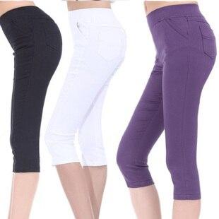 Summer women's 2013 legging female slim all-match elastic legging 100% cotton plus size capris