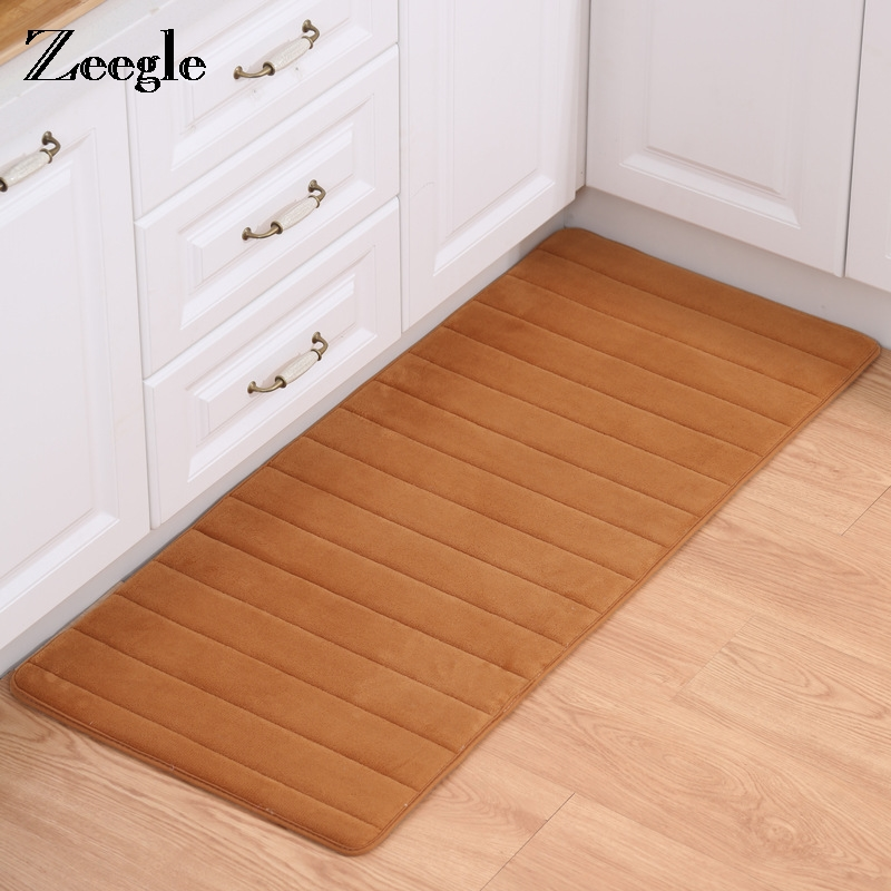 US $7.08 22% OFF|Zeegle Memory Foam Kitchen Mats Bathroom Floor Mat Non  slip Carpets For Living Room Washable Kitchen Rugs Home Entrance Doormat-in  ...