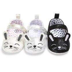 Для новорожденных Обувь для девочек мягкая подошва Обувь для младенцев милый мультфильм Животные противоскользящие кроссовки Prewalker 0-18 м