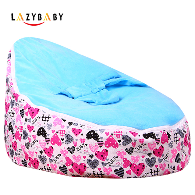 Lazybaby Medium Just Love Baby Bean Bag Chair Kids Bed For Sleeping Portable Folding Newborn Babies