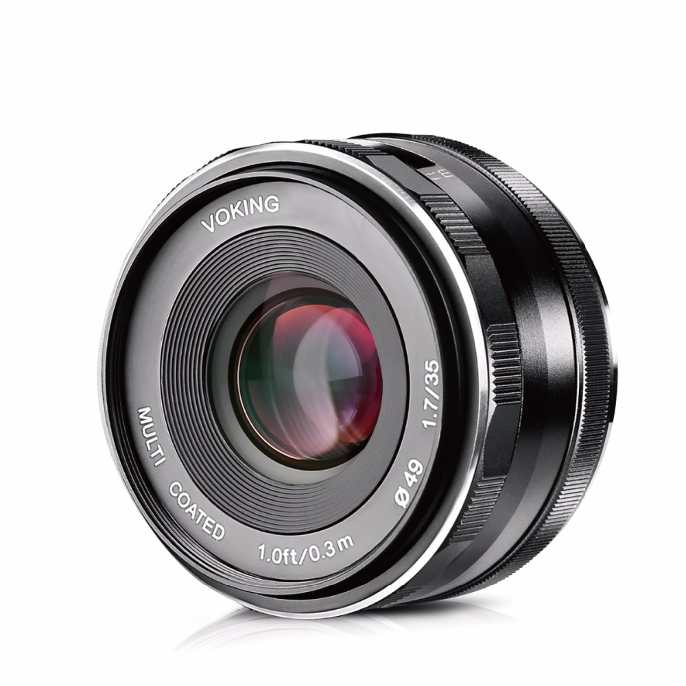 VOKING VK-35mm F1.7 Large Aperture Manual Focus Lens for Canon-EF-M EOS M1 M2 M3 M5 M6 M10 M100 автоакустика alpine x s65c