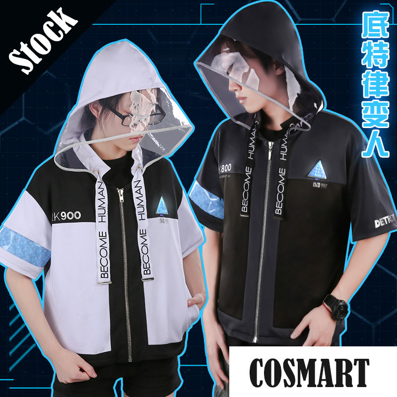 [Stock]Hot Game Detroit Become Human Connor Kara RK800 RK900 Hoodie Jacket Cosplay Costume Incarnated As A Human Daily Wear NEW