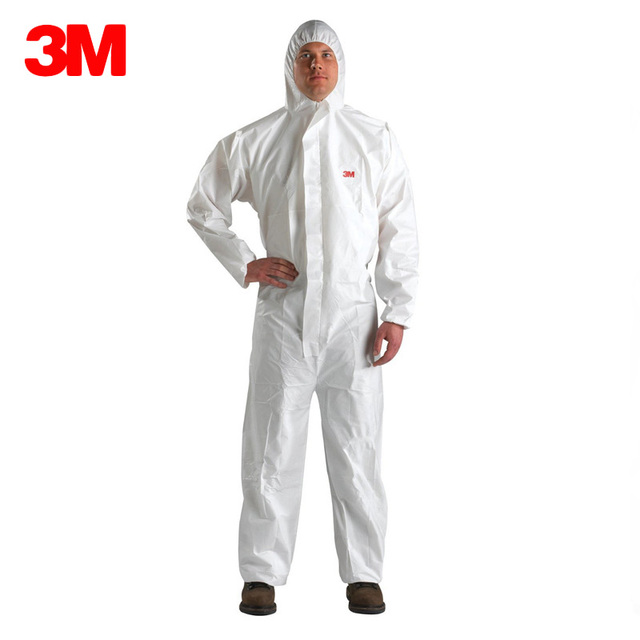 3M 4510 Safety Clothing Chemical Disposable Protective Coverall White Hooded Suit Anti Particles/Limited Liquid Chemical splash