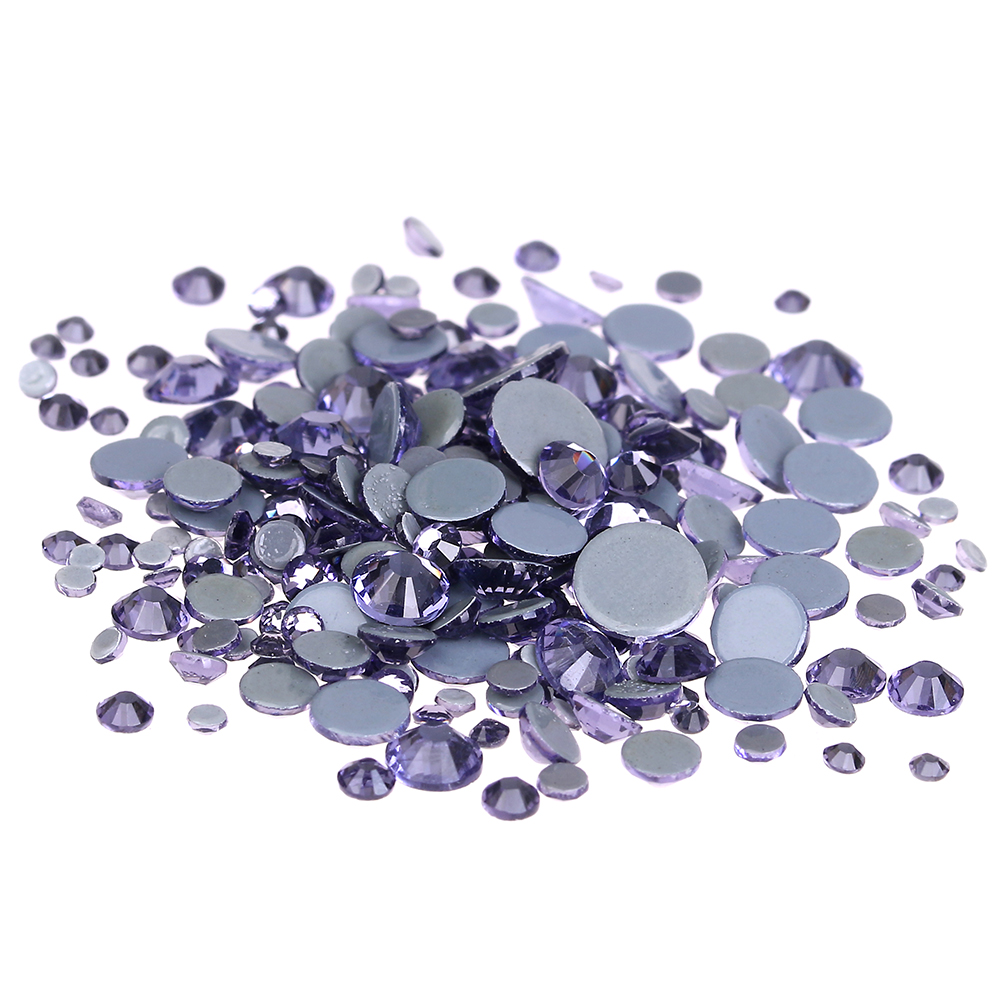 Tanzanite Crystal Hotfix Rhinestones For Nails ss6-ss30 And Mixed Glue Backing Iron On Strass Diamonds DIY Bags Shoes Backpack алмазный брусок для точильного набора dmt aligner™ extra fine 1200 mesh 9 micron