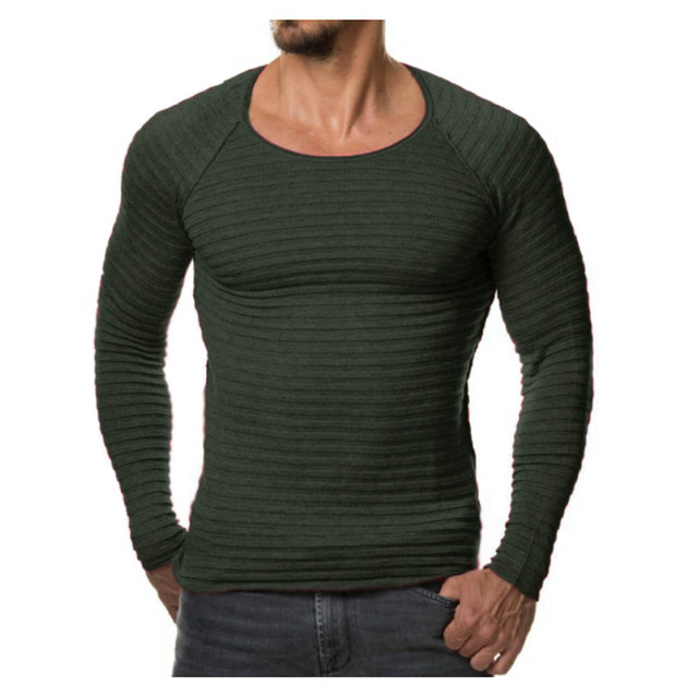 bc64603febf91 Winter Men 2018 New Fashion Pullover Knitted Sweater O-neck Casual Long  Sleeve Warm Pullovers Male Sweaters Big size clothes YA