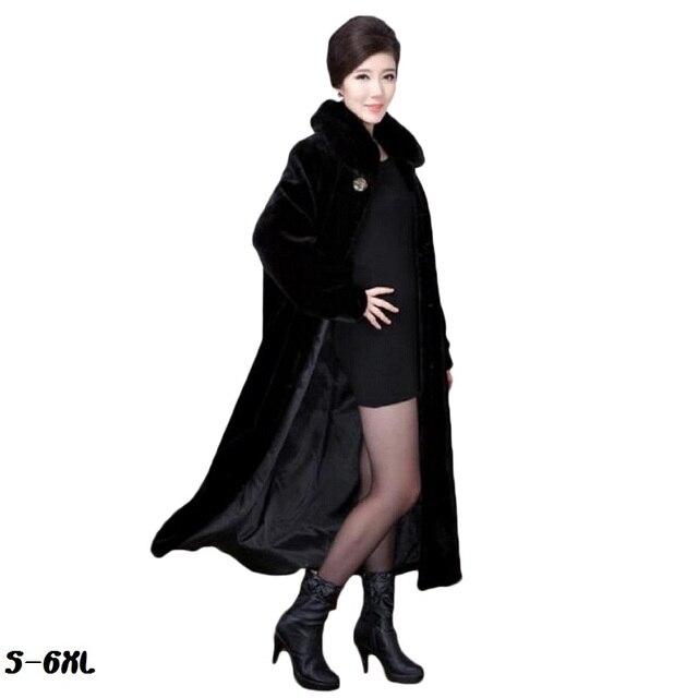 017781c60a3 Hot fur coat 2018 new faux fur long coat fashion mink coat natural fur mum  fat plus size s-6XL womans faux fur coat cold
