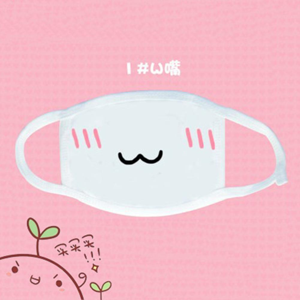 Durable Mouth Cover Mask Cotton Mouth Facial Masks Outdoor Anti-Dust Cute Anime Cartoon Style Cycling Wearing Mask Free Ship