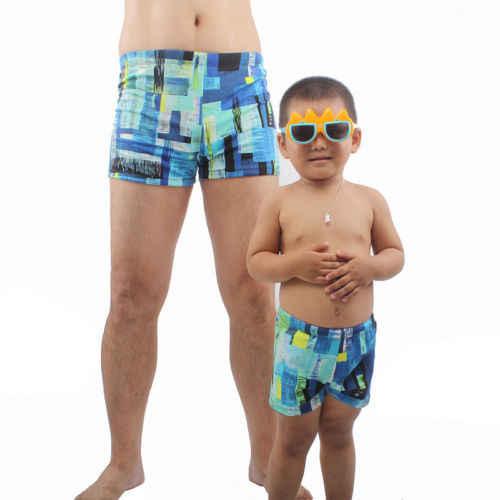 Brand New Jongen Mannen Vader Zoon Board Shorts Graffiti Gedrukt Badmode Shorts Ouder-kind Badpak Zwembroek Zwemshort