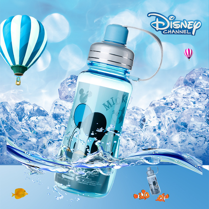 Disney childrens cup leak-proof strap baby bottle baby Mickey cup baby drink cup gourd cup