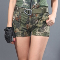High Quality Tactical Summer Kryptek Girls Camouflage Shorts Women Casual Camo Cargo Shorts Army Military Hot