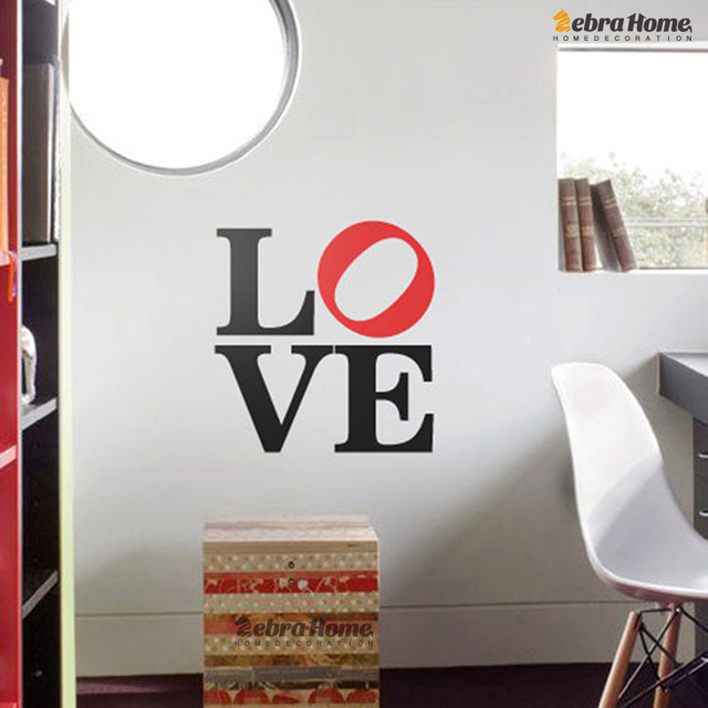 Art LOVE Word Letter Wall Decals Stickers For Baby Bedroom DIY Vinyl Murals  Wallpaper For Living