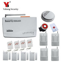 YobangSecurity Wirelsss Auto Dial Residence Safety Alarm System 433MHz GSM SMS Alarm Russian English Voice Immediate Alarm Sensor Equipment