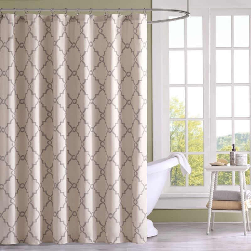 new stampato geometrica stile moderno elegante tende da doccia ganci blu tende da doccia bagno tenda