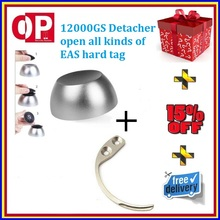 1pc Universal magnetic security tag removal + 1pc mini portable eas detacher hook key