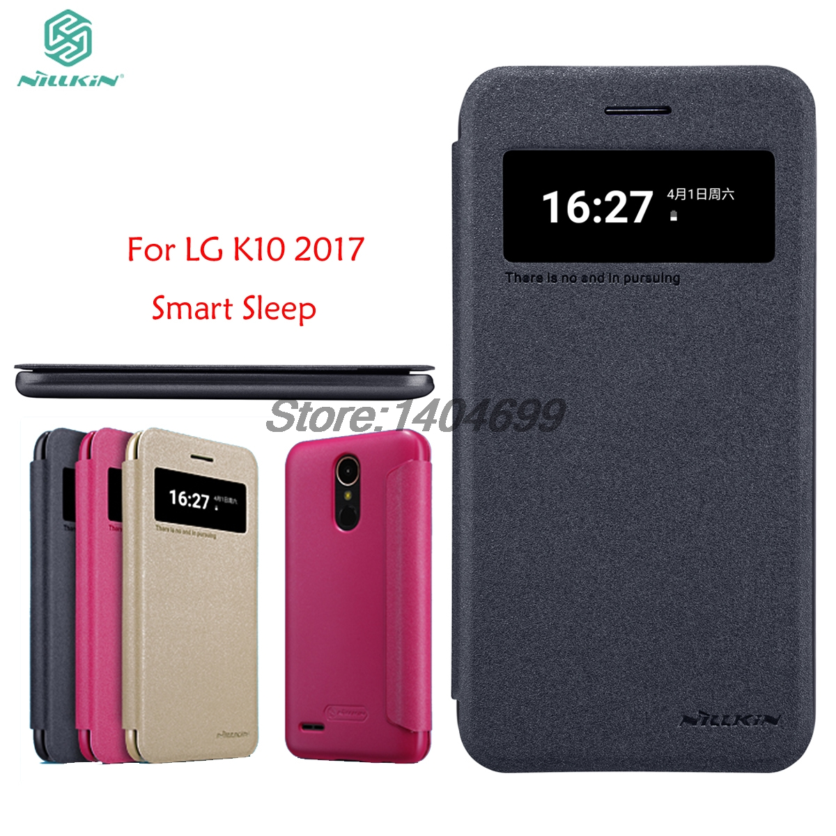the best attitude fca13 7b08a US $9.89 |sFor LG K10 2017 Flip Case LG K10 2017 Case Nillkin Sparkle  Series PU Leather Cover Flip Case For LG K10 2017 With View Window-in Flip  Cases ...